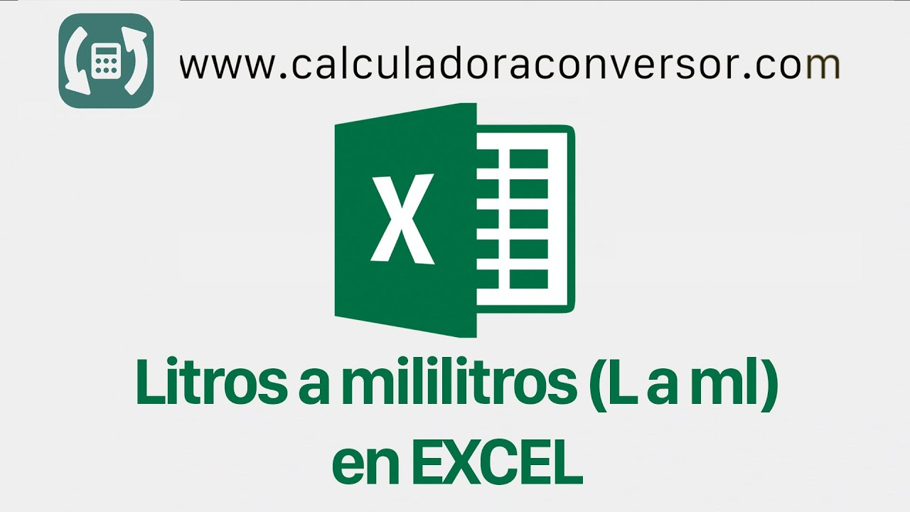 Litros a mililitros en Excel   Convertir L a ml - YouTube