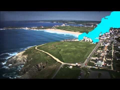 Iconic Cornwall landmarks from the air