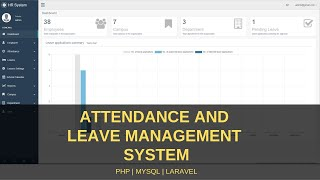 This application is developed using php laravel framework. the system facilitates in keeping track of employees leaves and attendance records. ena...