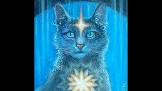 Рисуем кота в стиле виженари арт пастелью