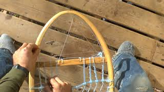 Snowshoe Weaving Part 9: Rounded Toe or Heel Setup