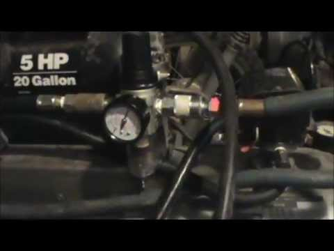 Air Compressor Filter Regulator Setup