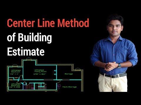 Center line method of building estimation.