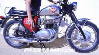 starting a restored 1969 bsa a65 lightning 650