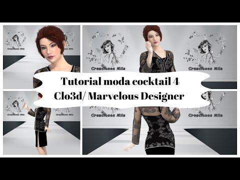 Tutorial moda coktail 4, con Clo3d /Marvelous designer