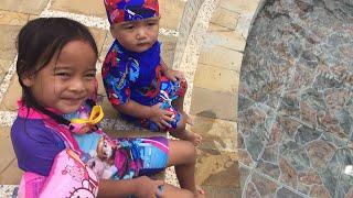 Mencoba Terapi Ikan | Zara Cute di Owabong