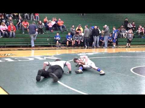 Levi Bishop wrestling Eastbrook middle school pin
