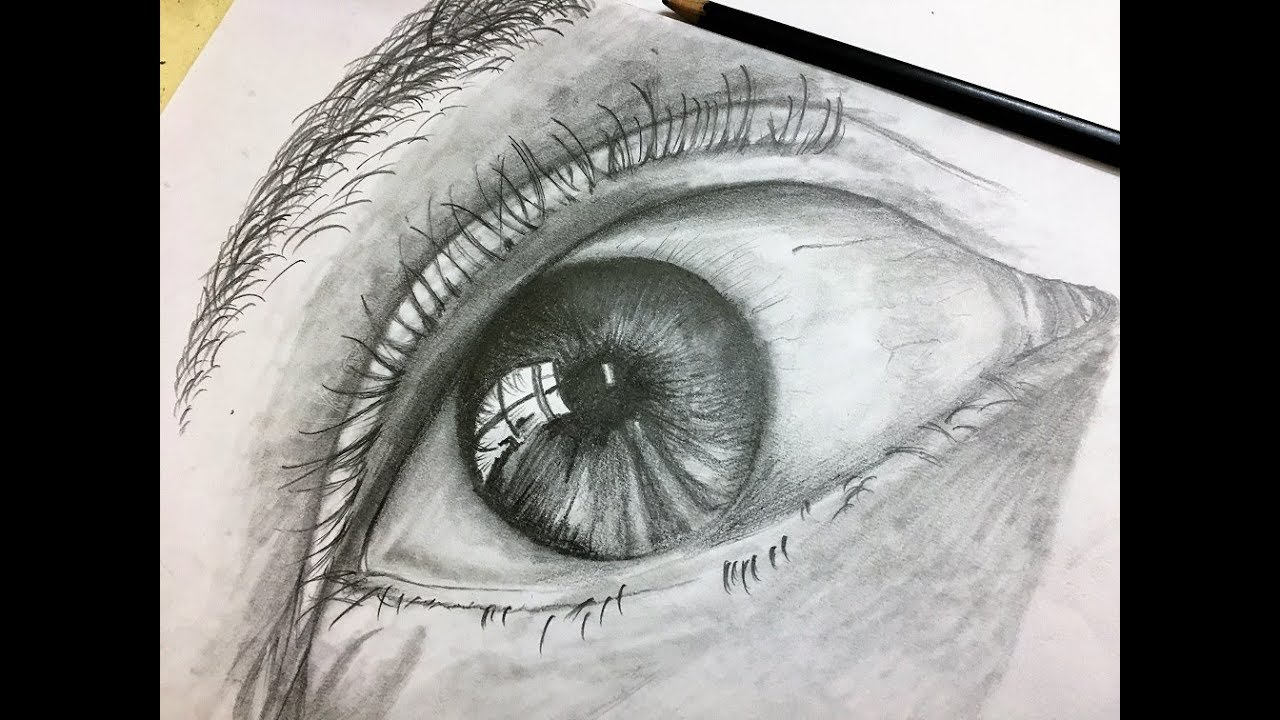How to draw a realistic eye with a normal pencil