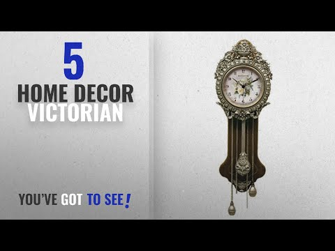 Top 10 Home Decor Victorian [2018 ]: Provencal Primrose Pendulum Wall Clock