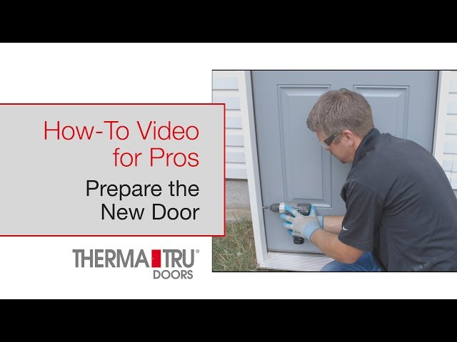 How-To for Pros: Prepare the New Door