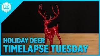 Holiday Christmas Deer - Timelapse Tuesday #3DPrinting