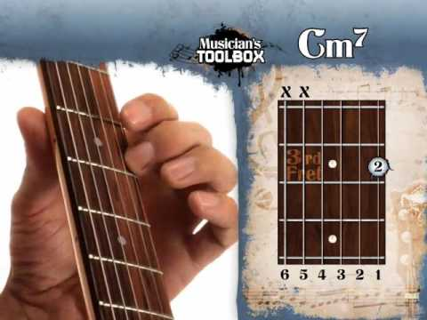 How To Play The C Minor 7 Chord On Guitar Cm7 Youtube