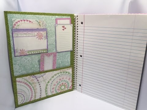 Altered Notebook for Back To School
