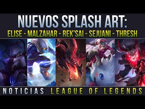 Noticias LOL | Splash Art: Elise - Thresh - Rek'Sai - Malzahar - Sejuani