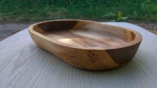Как сделать тарелку из дерева How to make a plate of wood