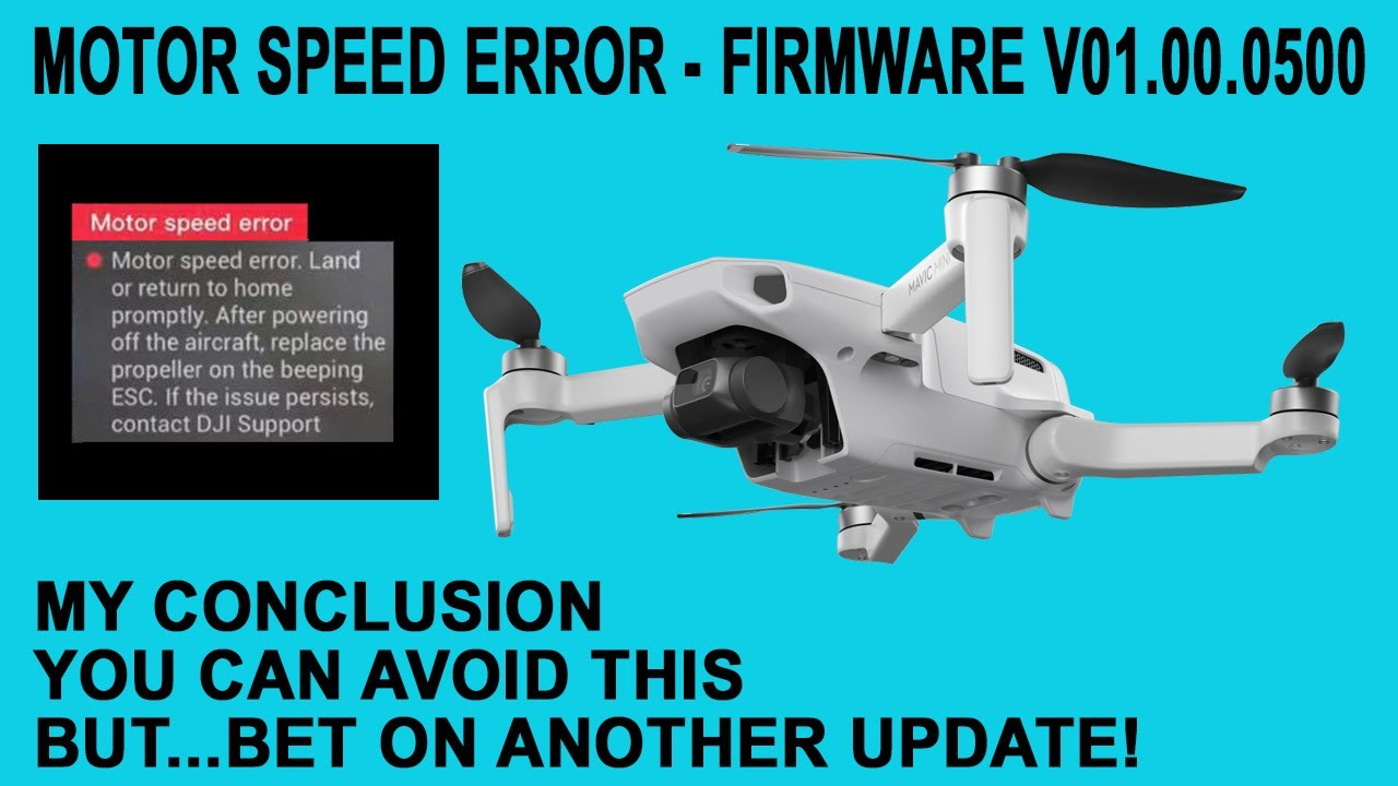 Mavic Mini Motor Speed Error My Conclusion Youtube