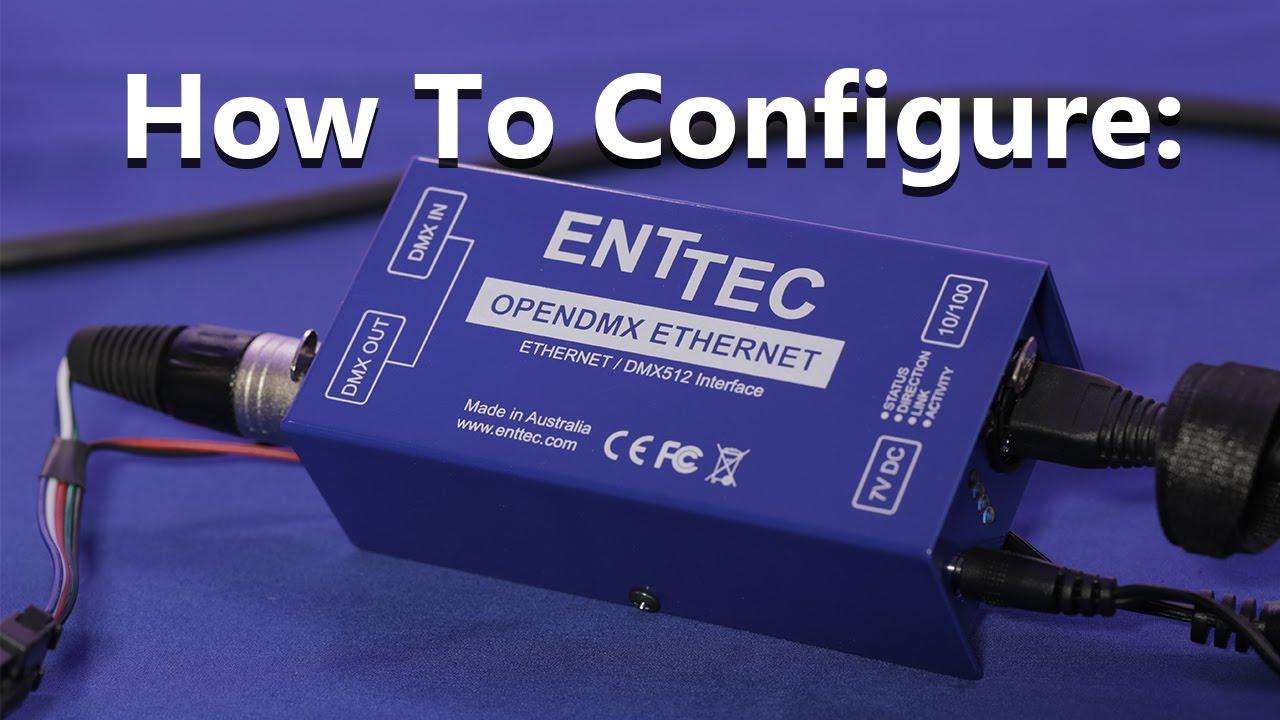 how to configure madrix enttec ode 70305 [ 1280 x 720 Pixel ]