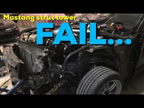 FAIL! Strut tower replacement - Salvage 2015 Ford  Mustang Drift car build