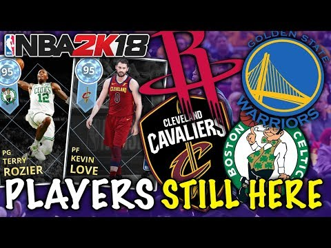 PLAYERS IN CONFERENCE FINALS! (CAVS, CELTS, WARRIORS, ROCKETS) NBA 2K18 MYTEAM