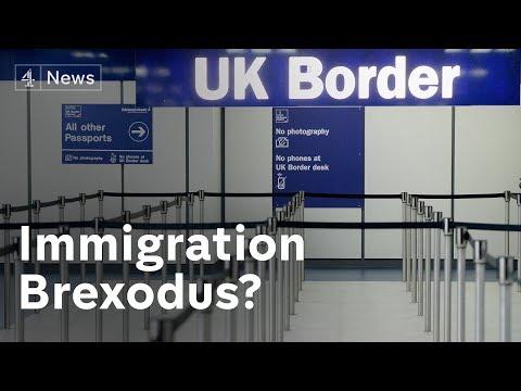 EU net migration to UK falls amid Brexit