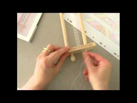 utilisation métier à tisser les perles - youtube