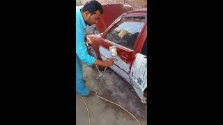 how to paint a cheap suzuki car door... Video