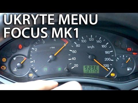 Ukryte menu serwisowe zegarów Ford Focus MK1 (test mode, tryb serwisowy)