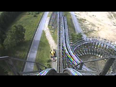 Colossos Wooden Roller Coaster Front Seat Pov Onride Heide Park Germany