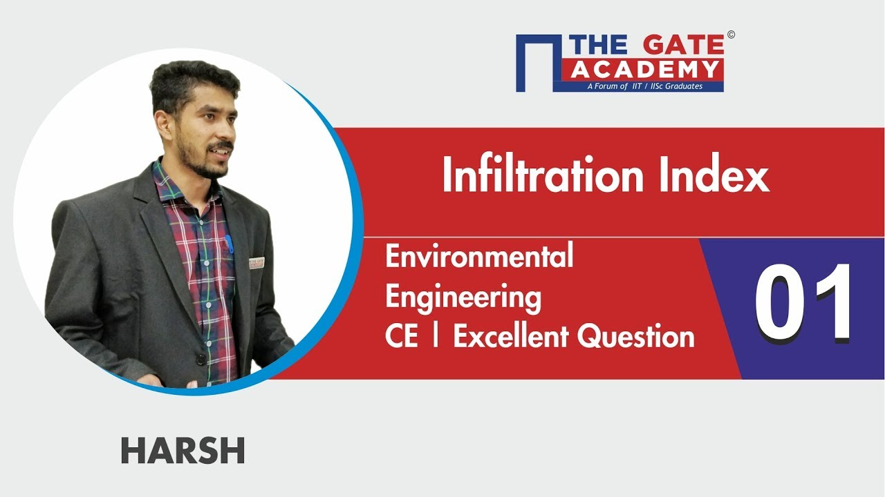 Infiltration Index   01   Excellent Question - GATE Sol   Hydrology   Civil  Engineering