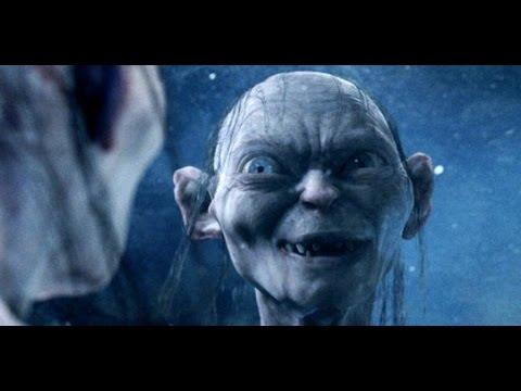 lord of the rings hd gollum smeagol talks to his reflection in