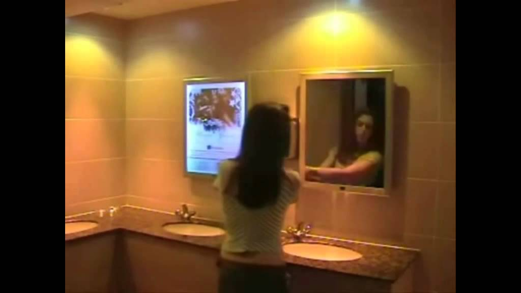 Espejo publicitario led youtube for Espejo 8 aumentos