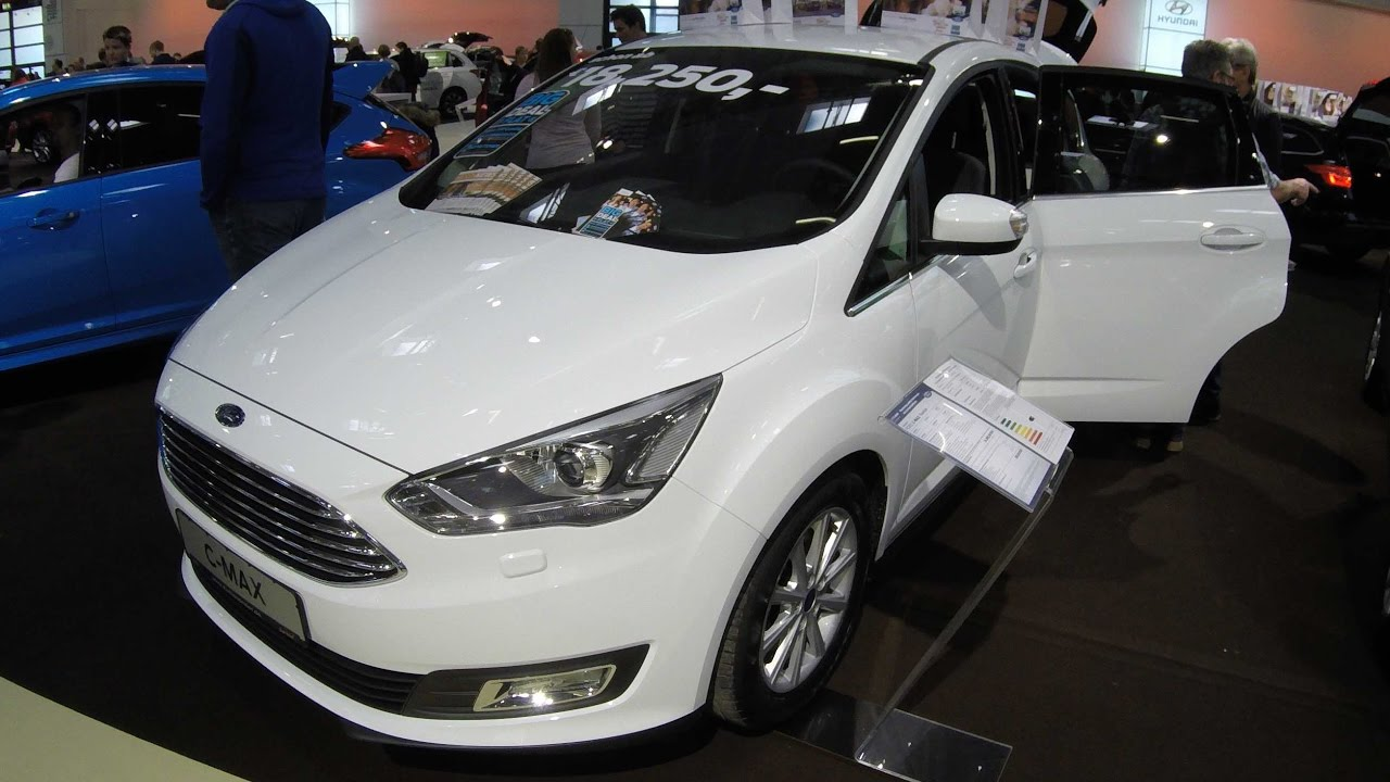 Ford C Max Anium Frost White Colour Model 2017 Walkaround And Interior