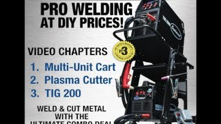 Welding Cart Combo with Cart, Plasma Cutter and TIG 200 from Eastwood