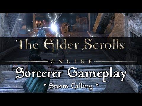 Elder Scrolls Online - Sorcerer Gameplay (Storm Calling)