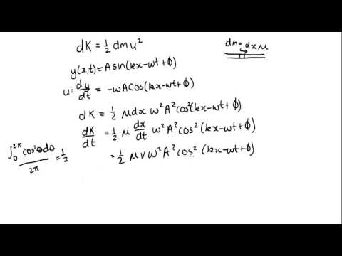 Derivation Of Power Transmitted By Wave Along String