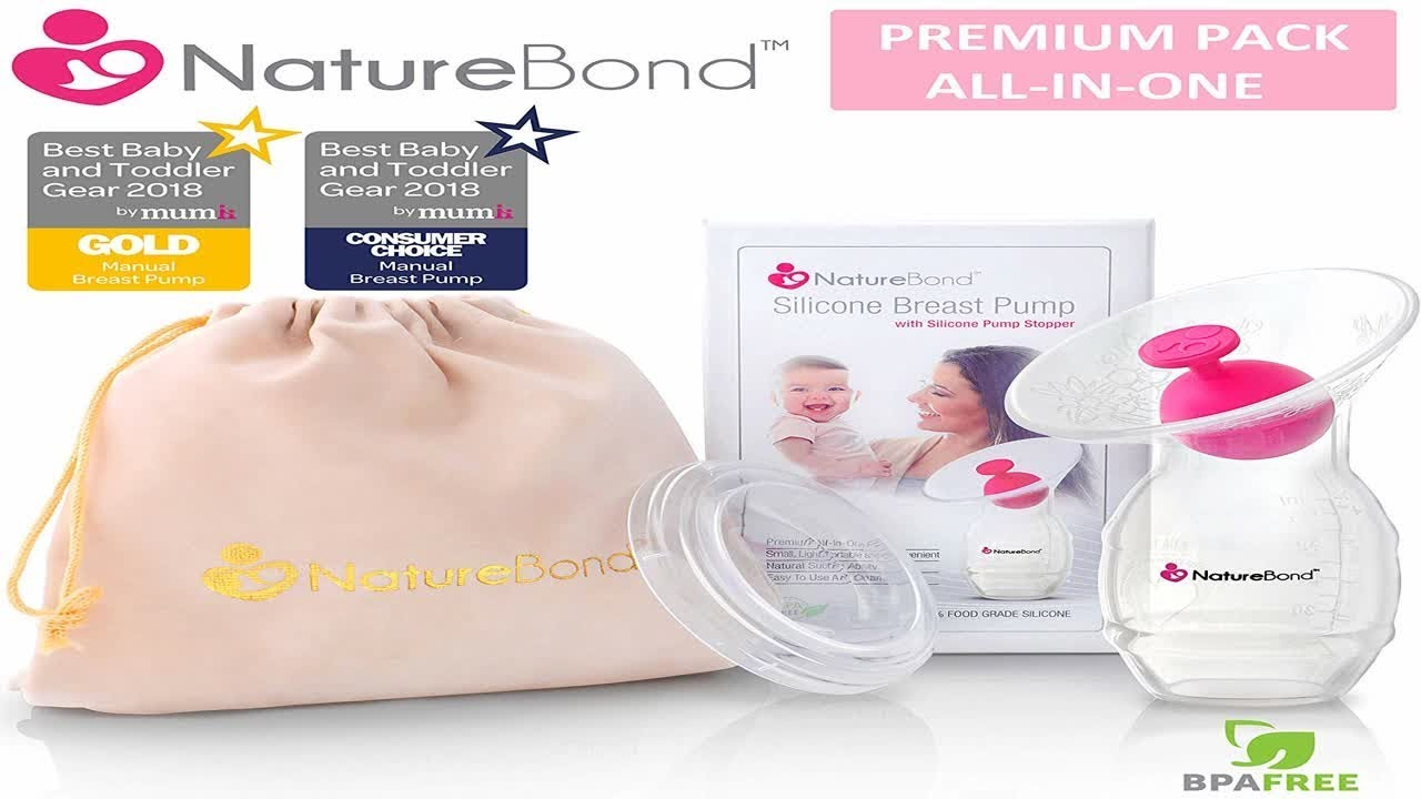 ... NatureBond Silicone Breastfeeding Manual Breast Pump Milk Saver Suction