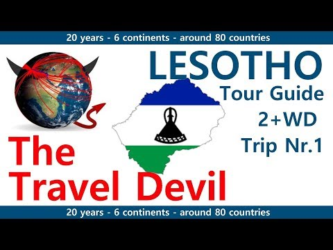 Tour Guide - Lesotho - Trip 1 - on the Road near Drakens Mou