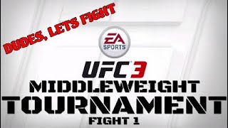 UFC 3 Middleweight Tournament with the dudes - Fight #1 - Neal VS Mike