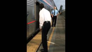Two Amtrak shufflers