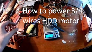 [6$] Power and Thrust test 7200RPM HDD motor
