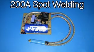How to make a high current 200A spot welding machine using 3000F Capacitor