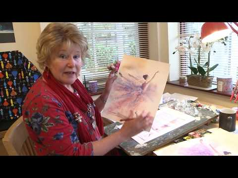 Ballet dancer watercolor lesson with Julie Hyde
