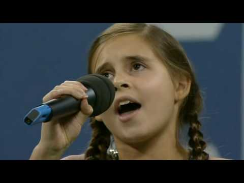 Carly Rose Sonenclar sings America The Beautiful at the US Open 2009