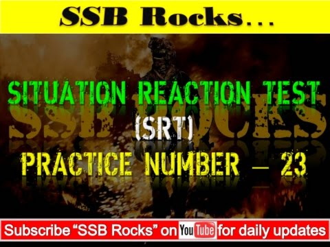 Situation Reaction Test (SRT) Practice 23 # SSB