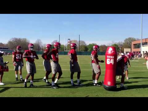 Alabama outside linebackers -- spring practice
