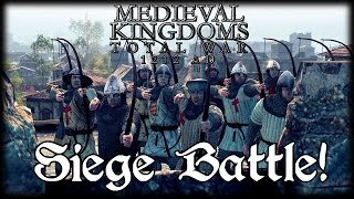 SIEGE BATTLE! Total War Attila MEDIEVAL MOD Early Access Gameplay!