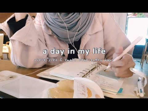 a day in my life - visit j.co, mini stationery haul, and make up
