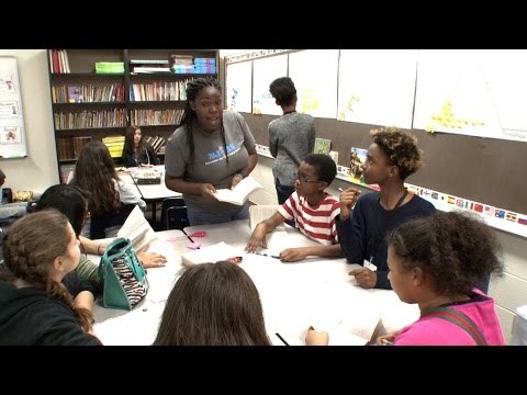 Teacher Eboni Jenerette helps her students believe in themselves at Twin Creeks Middle School