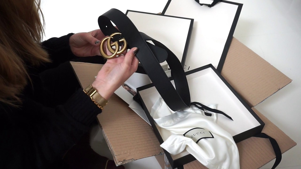 b204f89dc9be8c UNBOXING - GUCCI GG MARMONT BELT (4cm) - YouTube