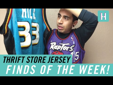 save off 3beba 1509b Thrift Vintage Jersey Finds (Haul) of the Week! - Iverson, Champion Grant  Hill + MORE